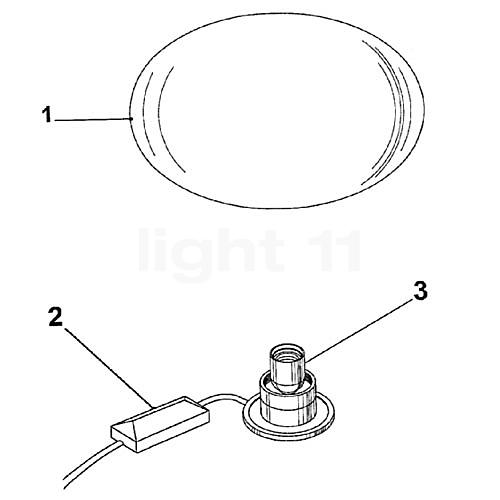 flos ersatzteile f r glo ball basic 2 kaufen bei. Black Bedroom Furniture Sets. Home Design Ideas