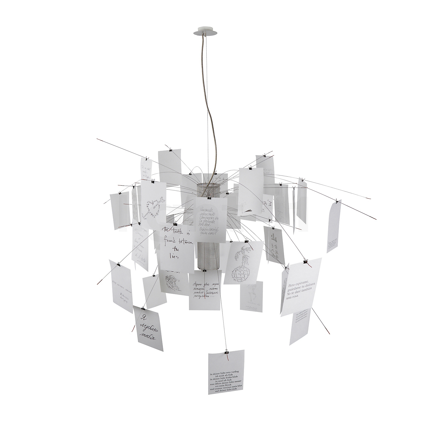 ingo maurer zettel 39 z 5 pendant lights buy at. Black Bedroom Furniture Sets. Home Design Ideas