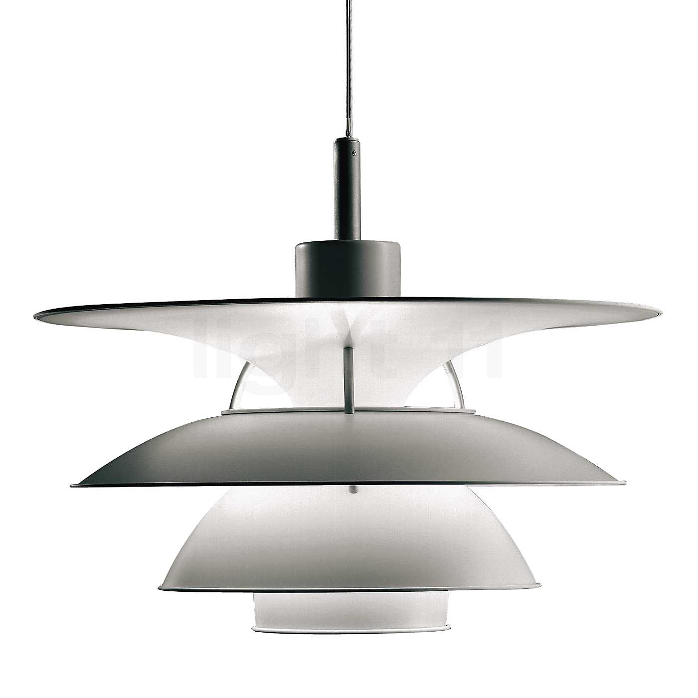 Louis poulsen luminaire suspendu ph 5 4 suspension for Lampe mit mehreren schirmen