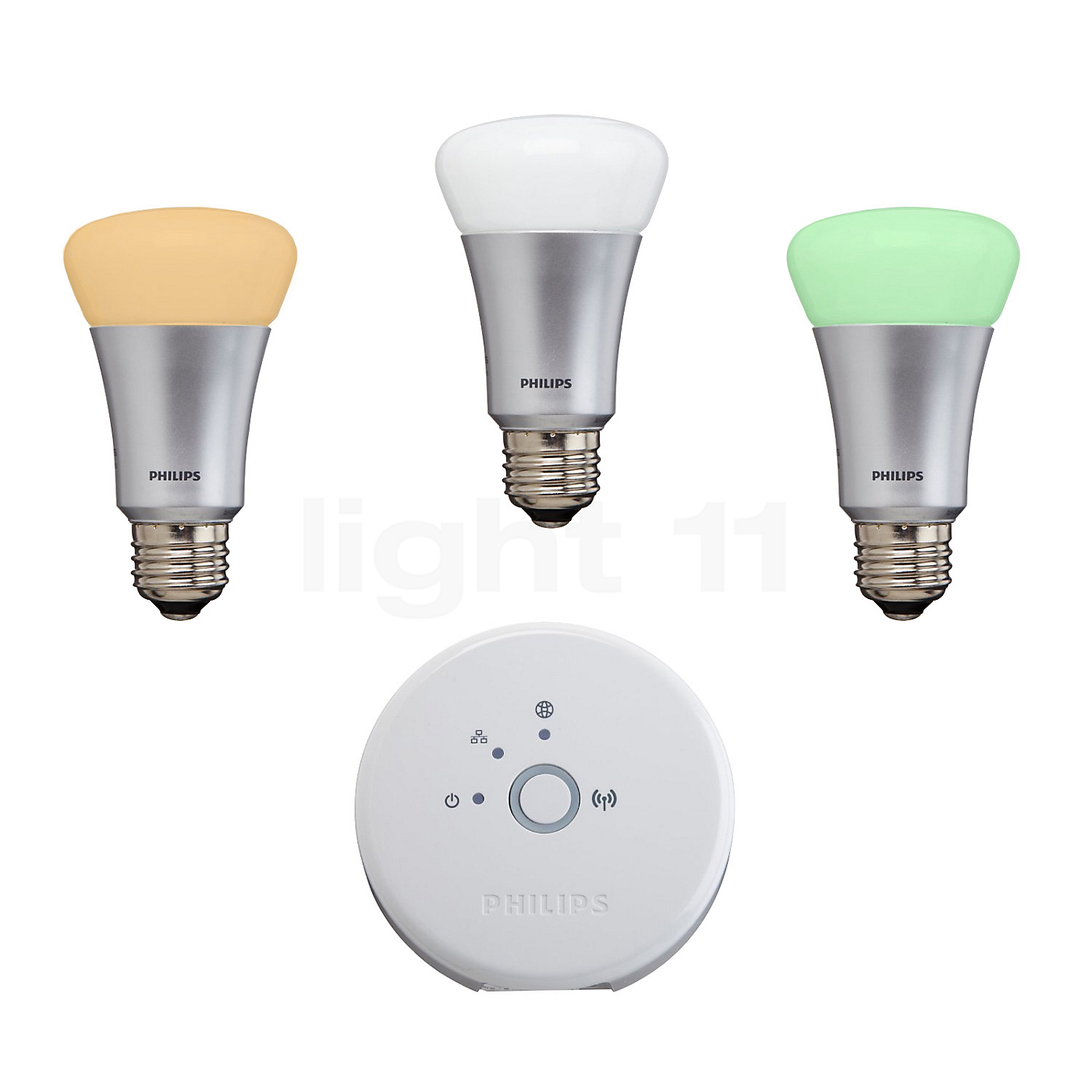 Philips hue hue e27 9w starter kit set of 3 with bridge - Philips hue starter kit ...