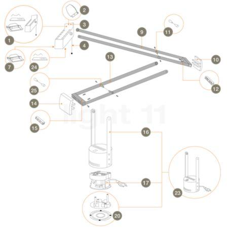 Artemide Ersatzteile für Tizio Plus kaufen bei light11.de