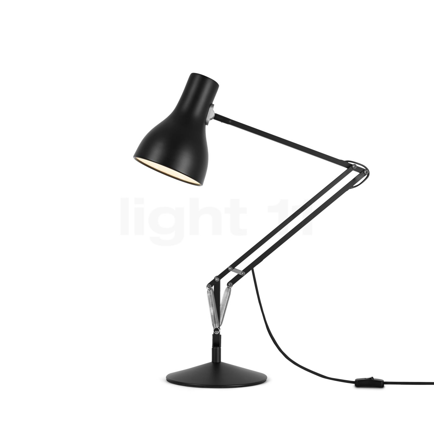 lampe anglepoise type 75 de bureau noir. Black Bedroom Furniture Sets. Home Design Ideas