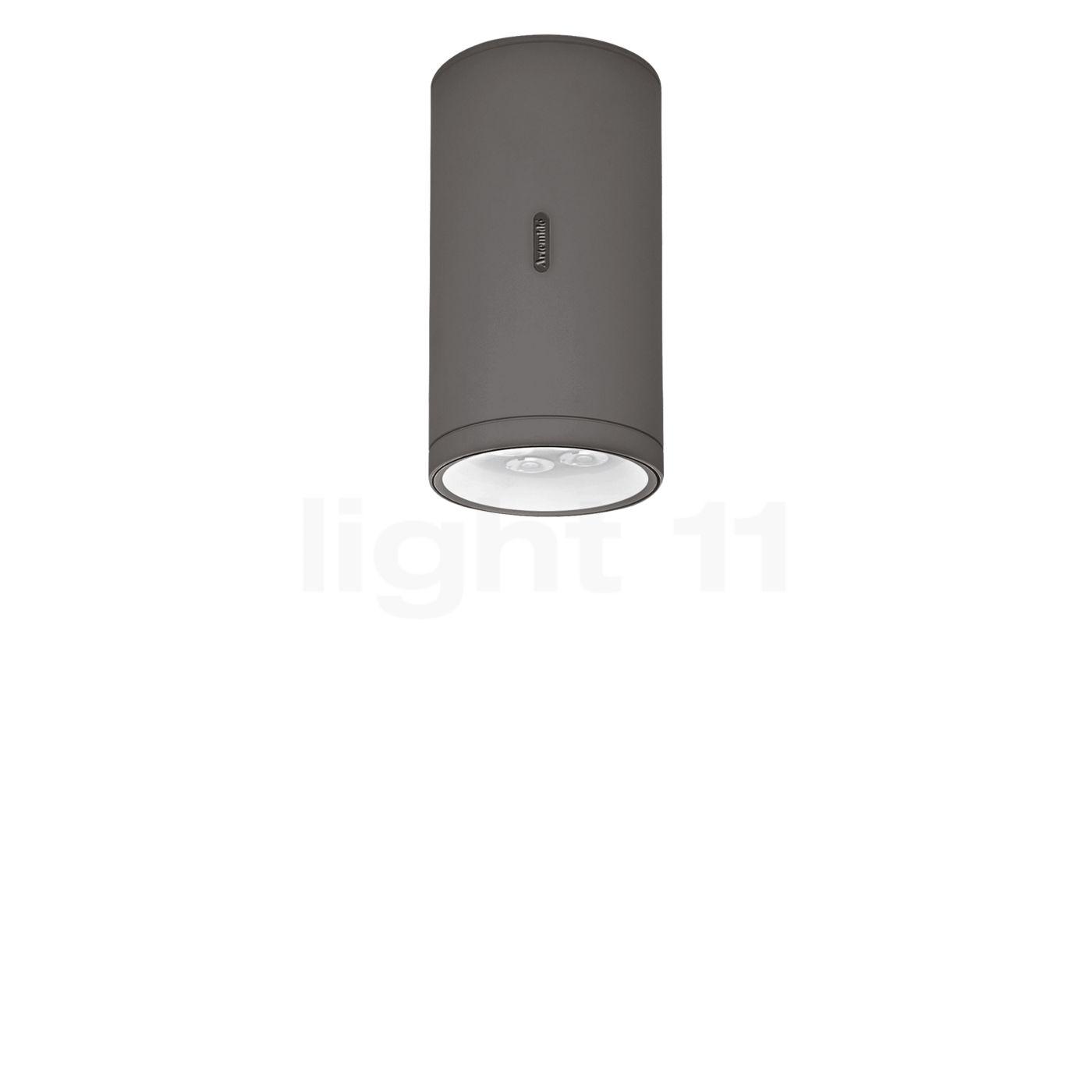 Artemide Calumet Deckenleuchte LED, grau, 22,8 cm T41961LW10