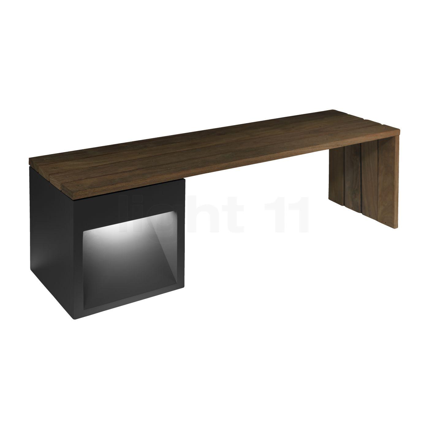 B.lux Lap Bench Long LED, grau