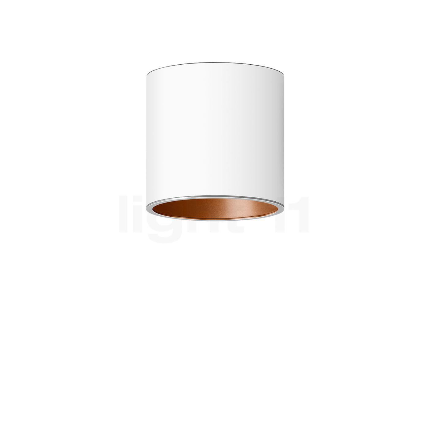 Bega Studio Line Deckenleuchte Tiefstrahler LED rund, weiß/Kupfer matt, 13,7 W 50678.6K3