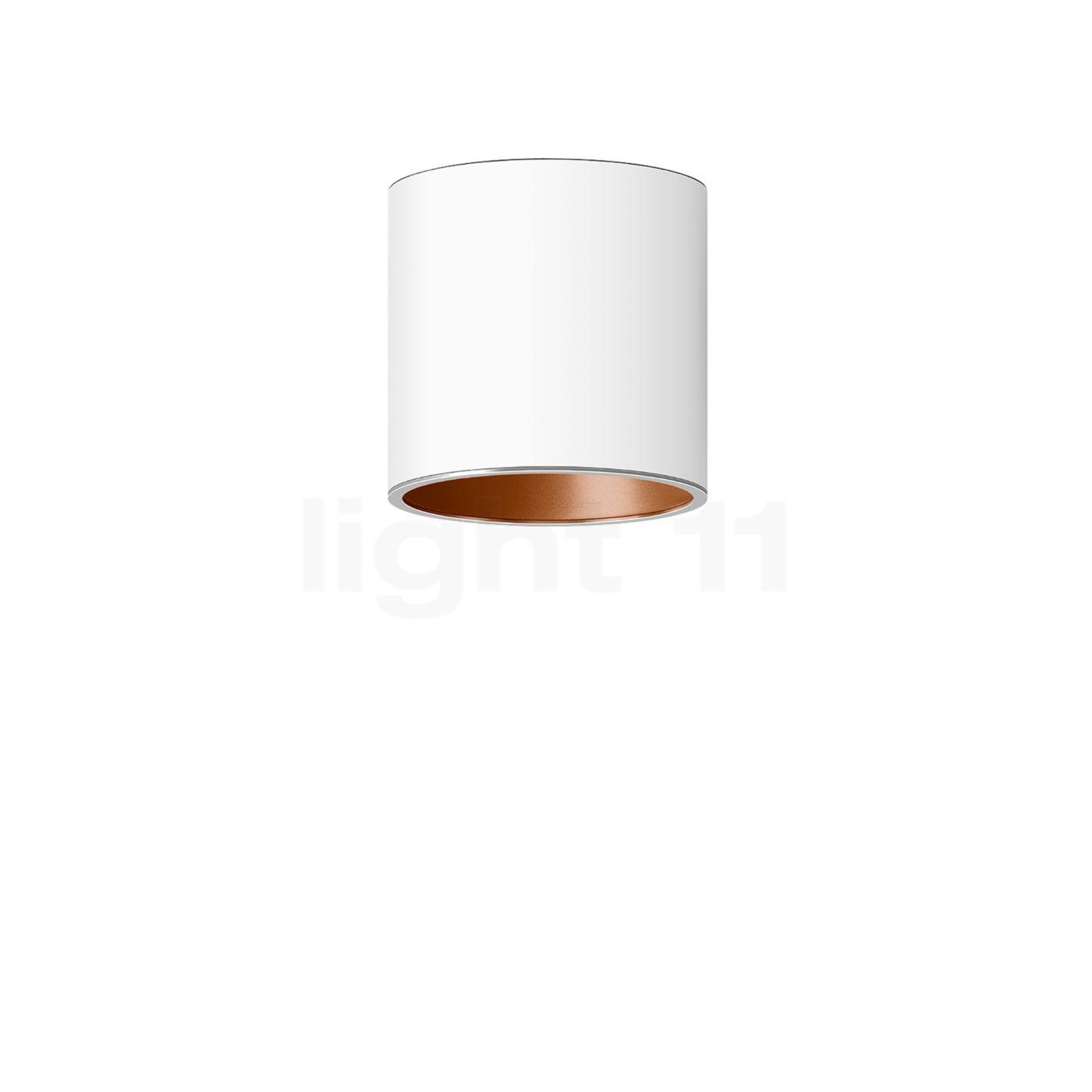 Bega Studio Line Deckenleuchte Tiefstrahler LED rund, weiß/Kupfer matt, 9,6 W 50677.6K3