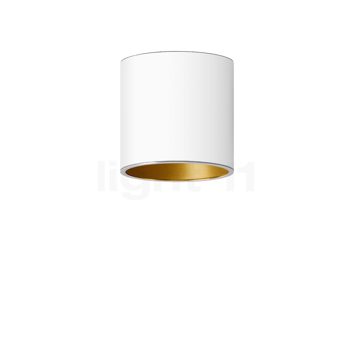 Bega Studio Line Deckenleuchte Tiefstrahler LED rund, weiß/Messing matt, 13,7 W 50678.4K3