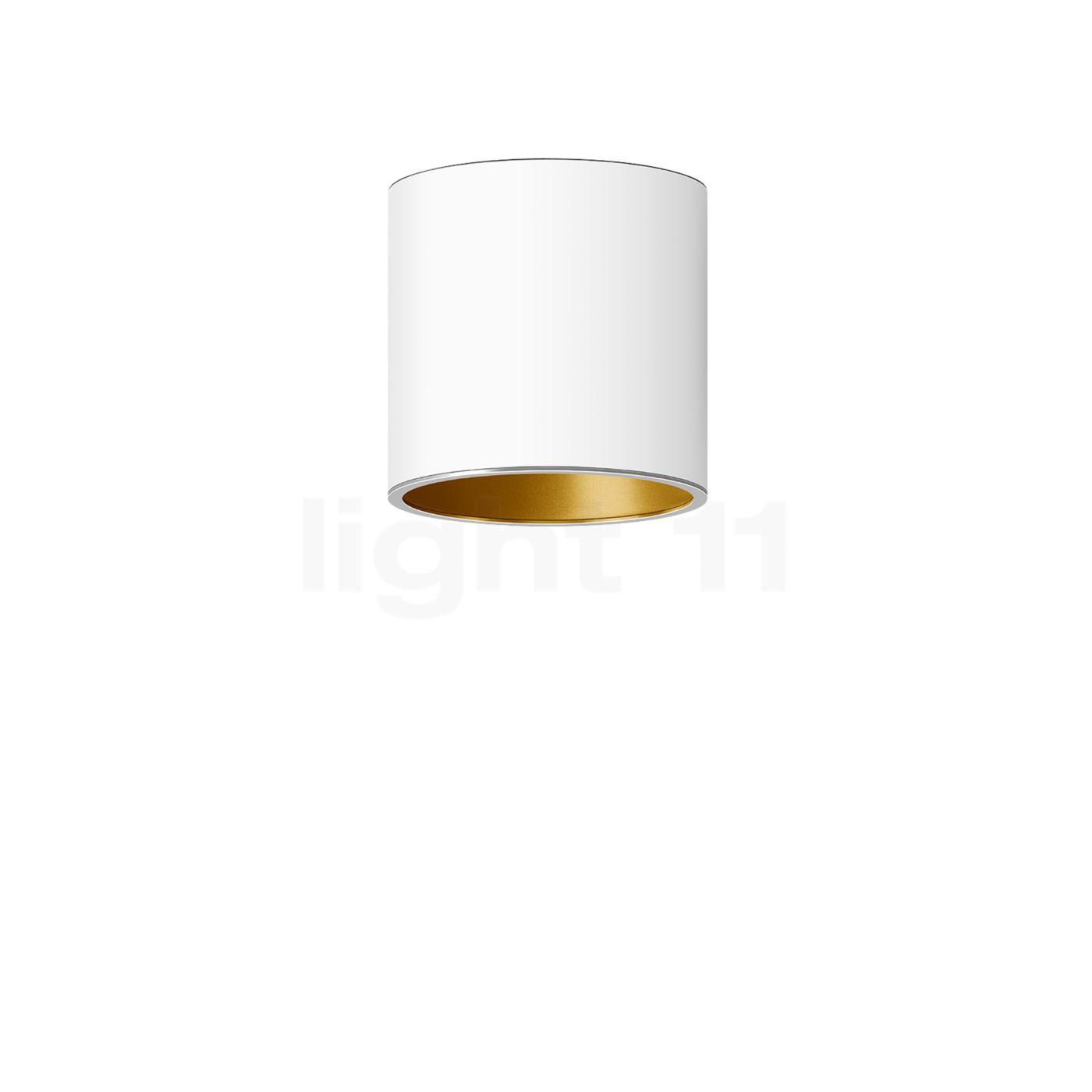 Bega Studio Line Deckenleuchte Tiefstrahler LED rund, weiß/Messing matt, 9,6 W 50677.4K3