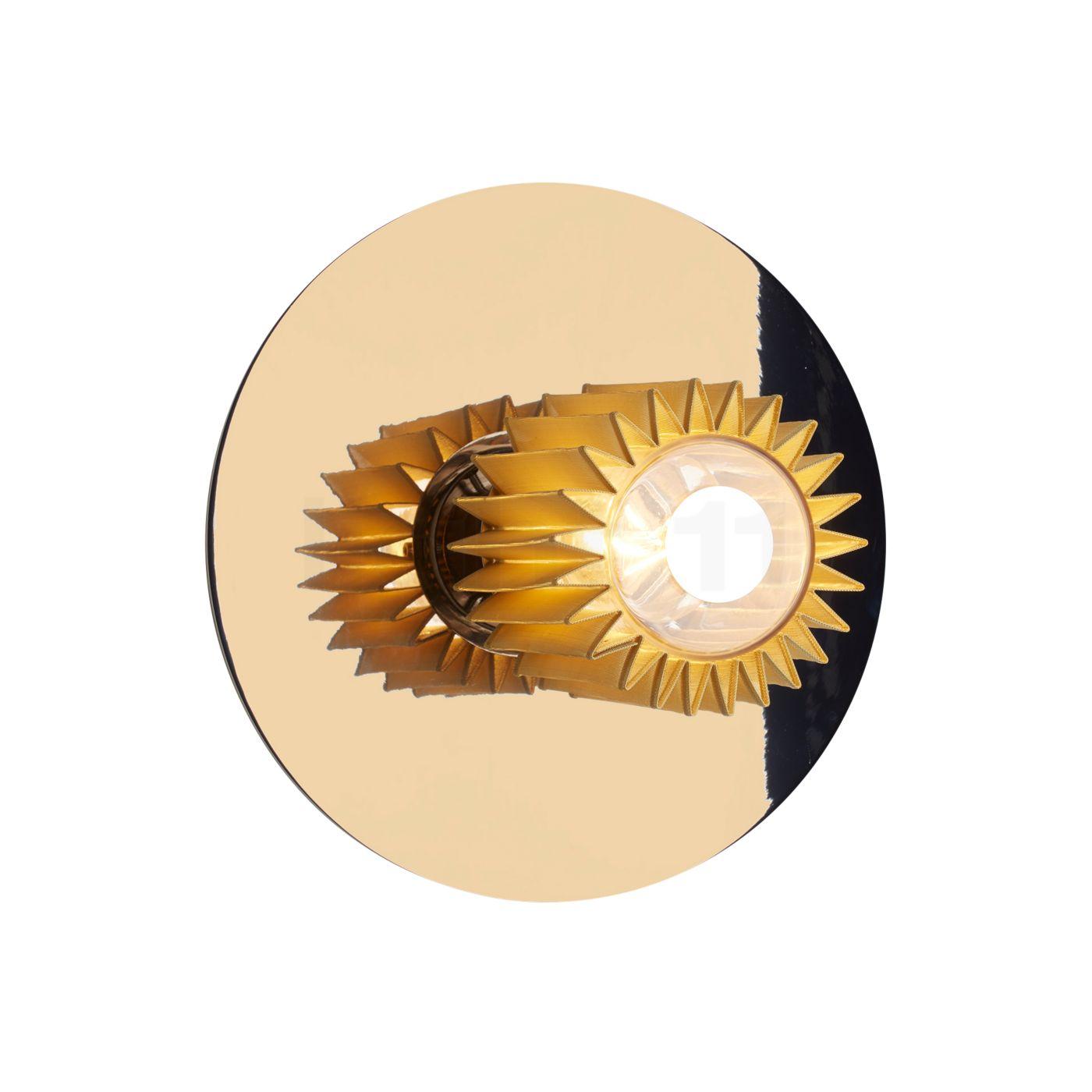 DCW In The Sun 270 Wandleuchte, Gold/Gewebe gold | Lampen > Aussenlampen > Solarleuchten | DCW