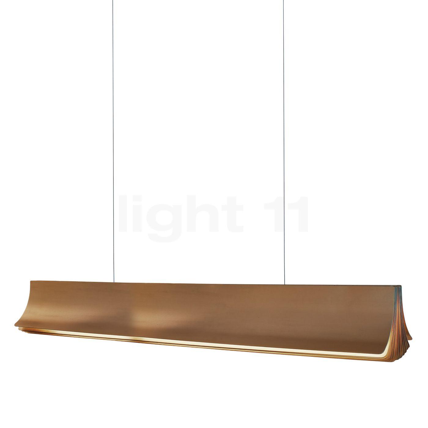 DCW Respiro Pendelleuchte LED, gold, 120 cm , Lagerverkauf, Neuware RESPIRO 1200 GOLD-GOLD
