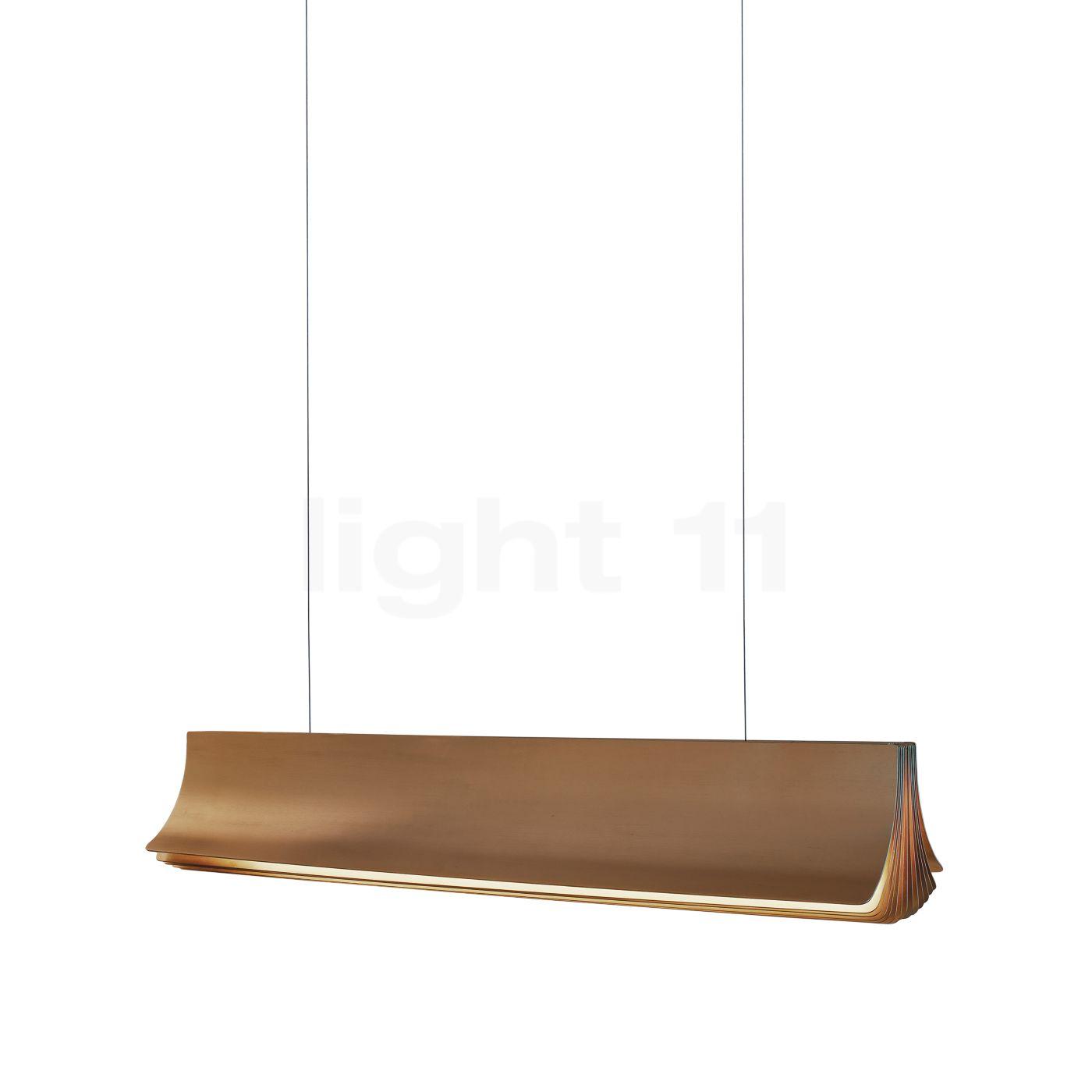 DCW Respiro Pendelleuchte LED, gold, 90 cm RESPIRO 900 GOLD-GOLD