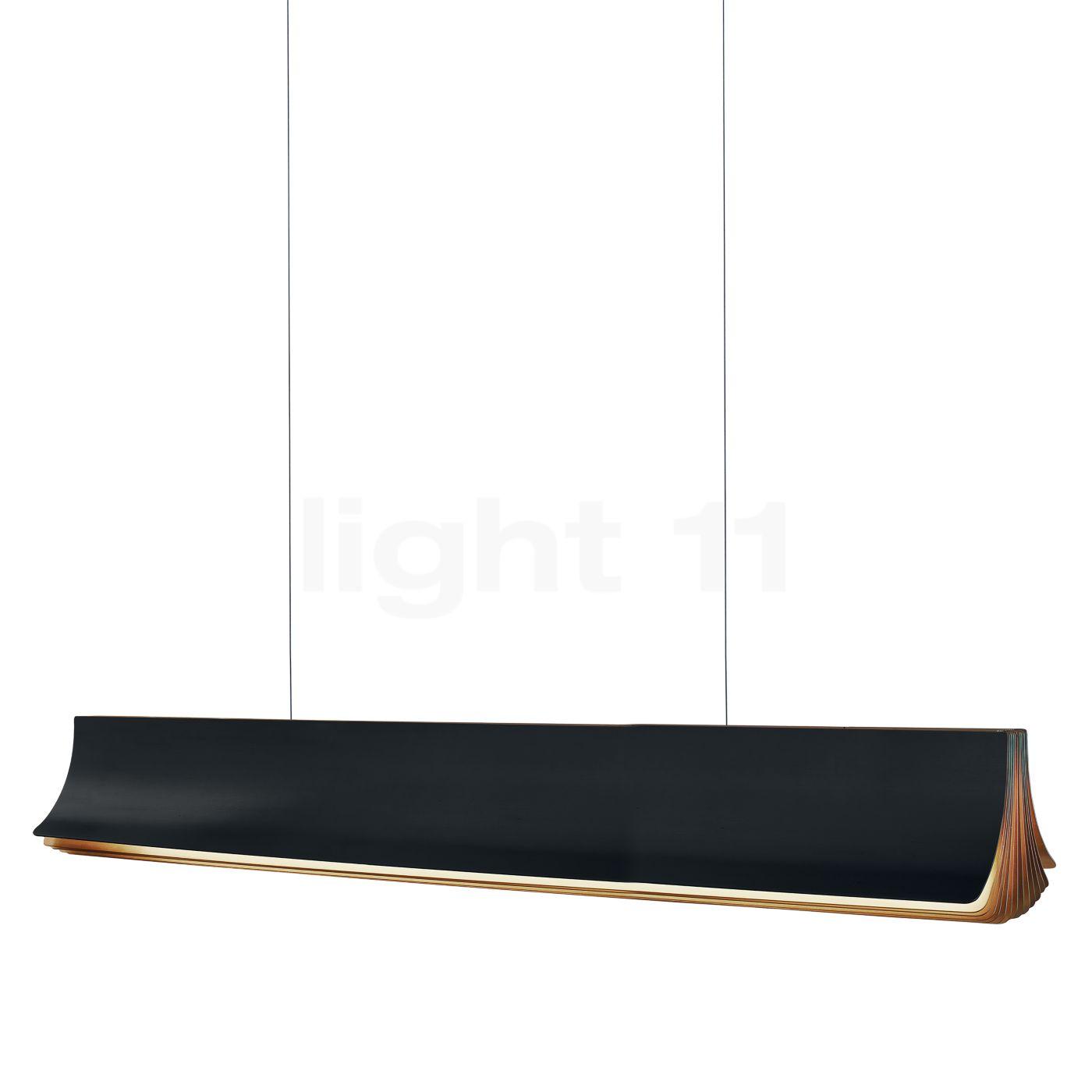 DCW Respiro Pendelleuchte LED, schwarz, 120 cm RESPIRO 1200 BL-GOLD