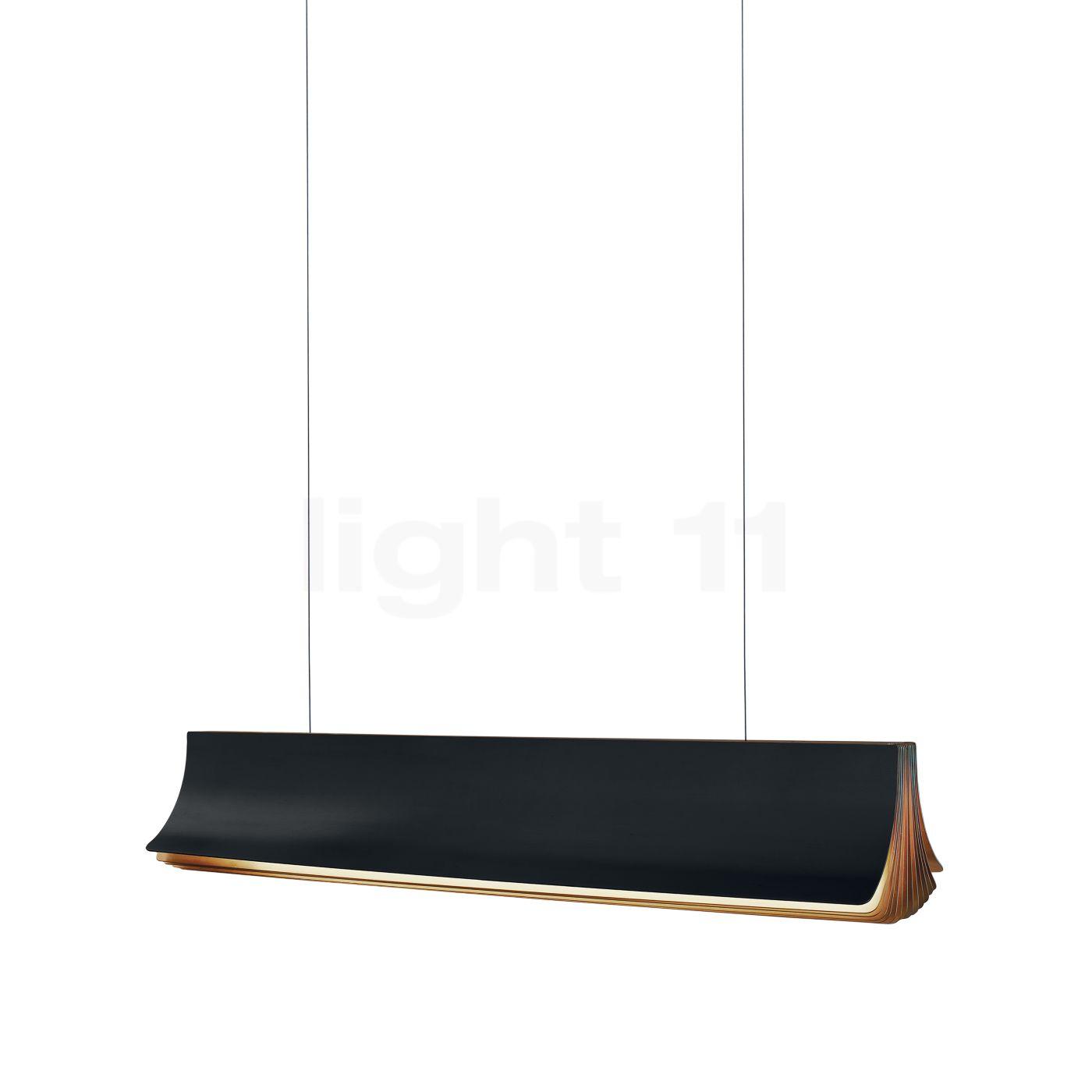 DCW Respiro Pendelleuchte LED, schwarz, 90 cm RESPIRO 900 BL-GOLD