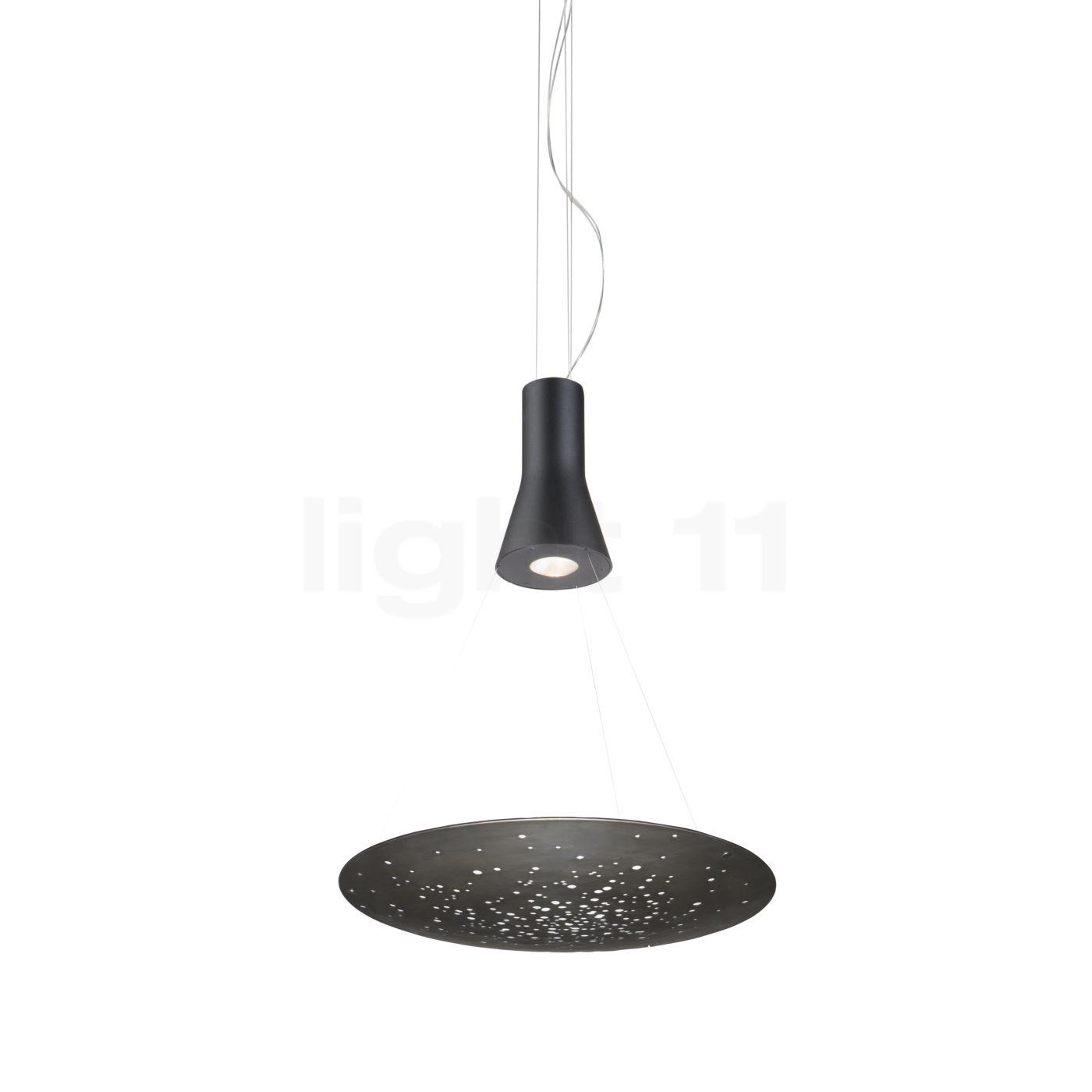 Fabbian Lens LED, Satinlack poliert, 60 cm F46 A01 14