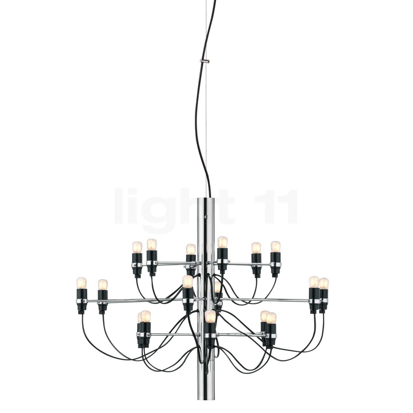 Flos 2097-18 inkl. LED Leuchtmittel, chrom glänzend - inkl. 18x Leuchtmittel matt A1351057