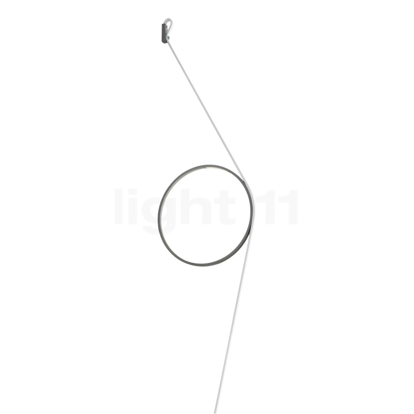 Flos Wirering LED, Kabel weiß/Ring grau F9512020
