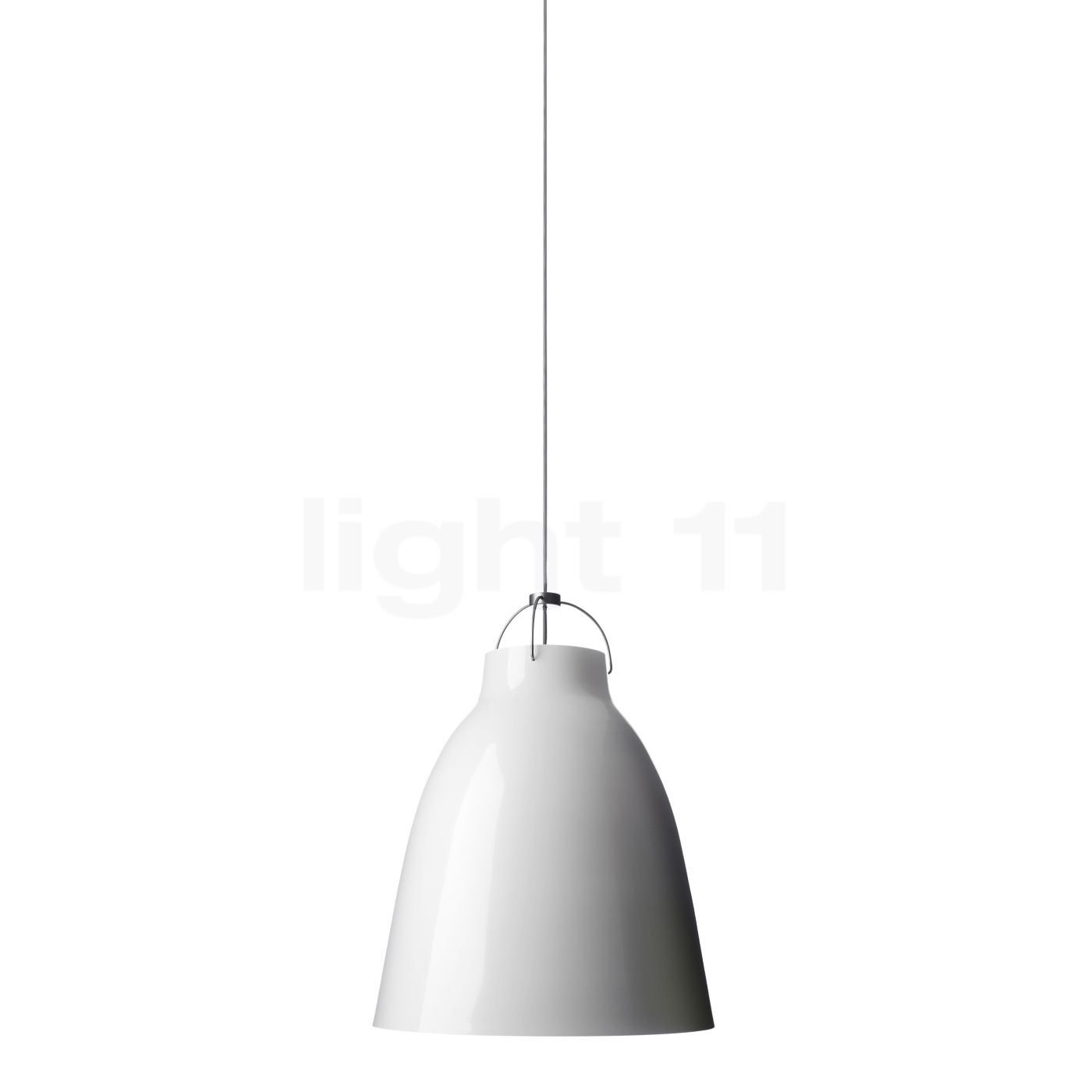 Fritz Hansen Caravaggio P1, weiß/Kabel grau 54006905