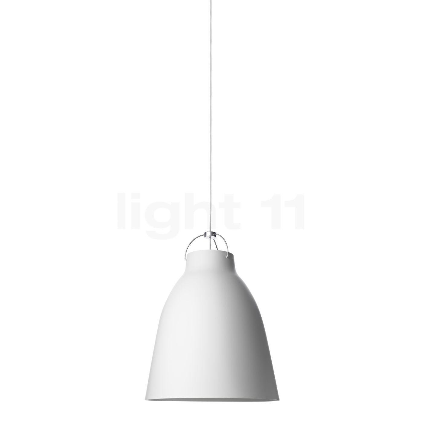 Fritz Hansen Caravaggio P1, weiß matt/Kabel weiß 14031113