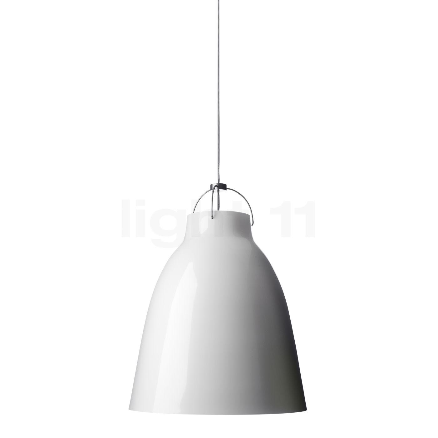 Fritz Hansen Caravaggio P2, weiß/Kabel grau 54007005