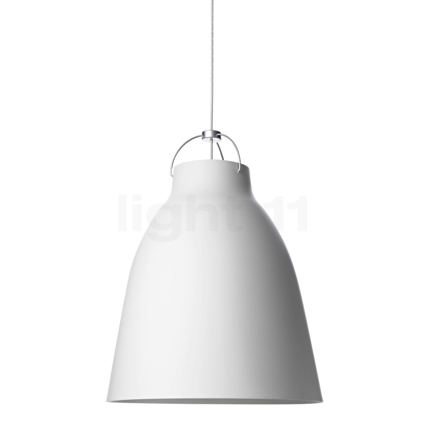 Fritz Hansen Caravaggio P3, weiß matt/Kabel weiß 14032213
