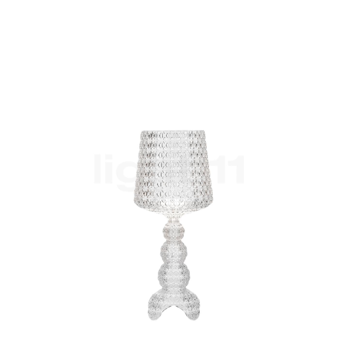 Kartell Kabuki Mini Tischleuchte LED, Kristallklar G9200B4