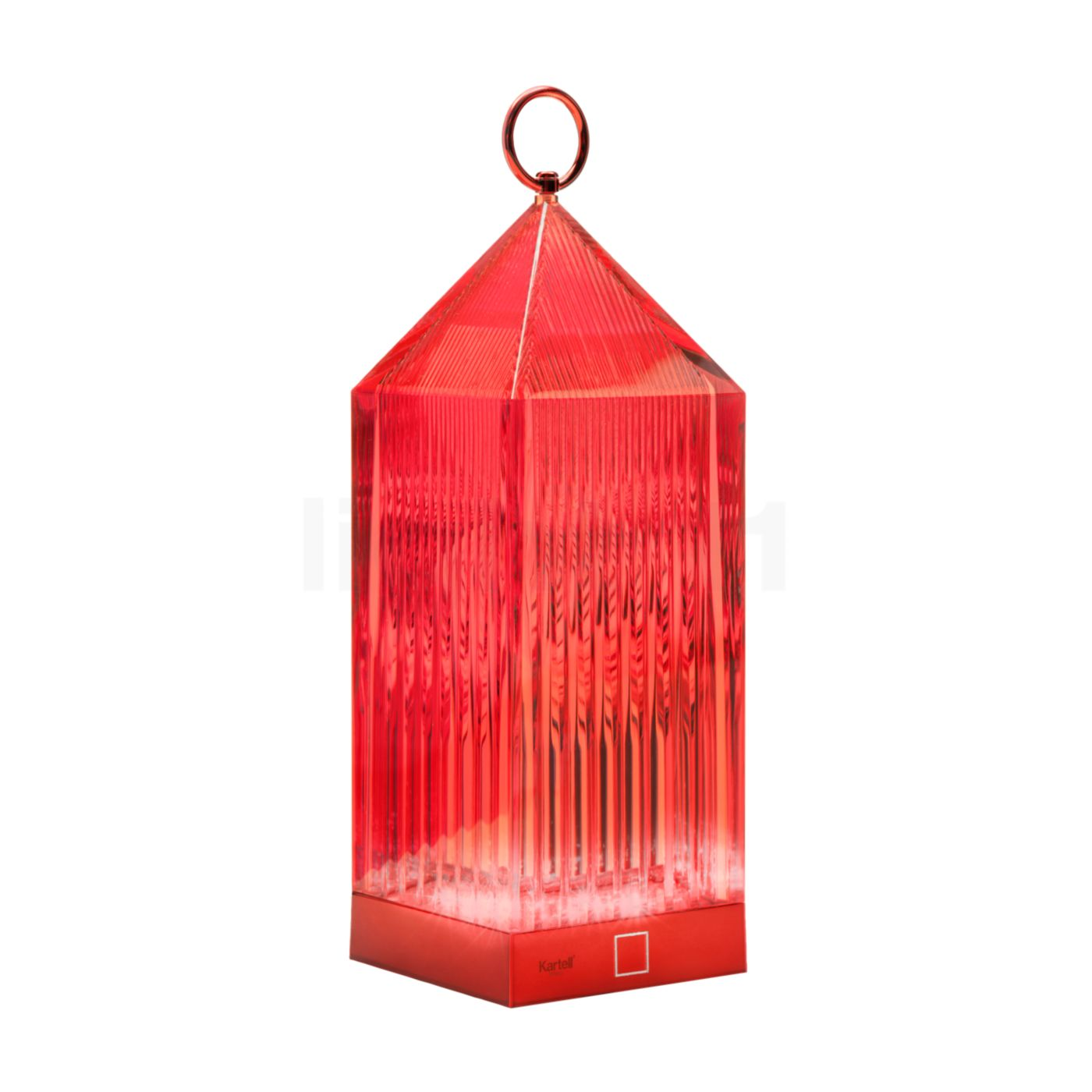 Kartell Lantern LED, rot | Lampen > Aussenlampen > Gartenleuchten | Kartell
