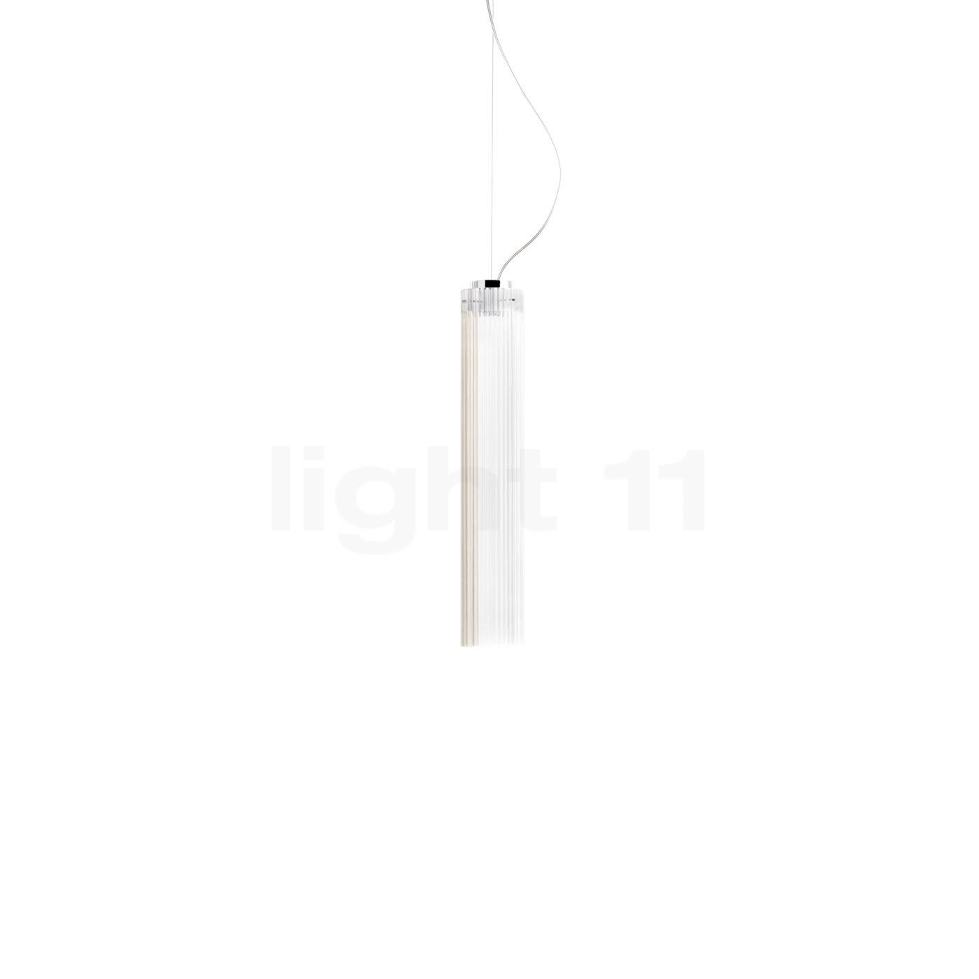 Kartell Rifly Pendelleuchte LED, Kristall, 30 cm 09340B4