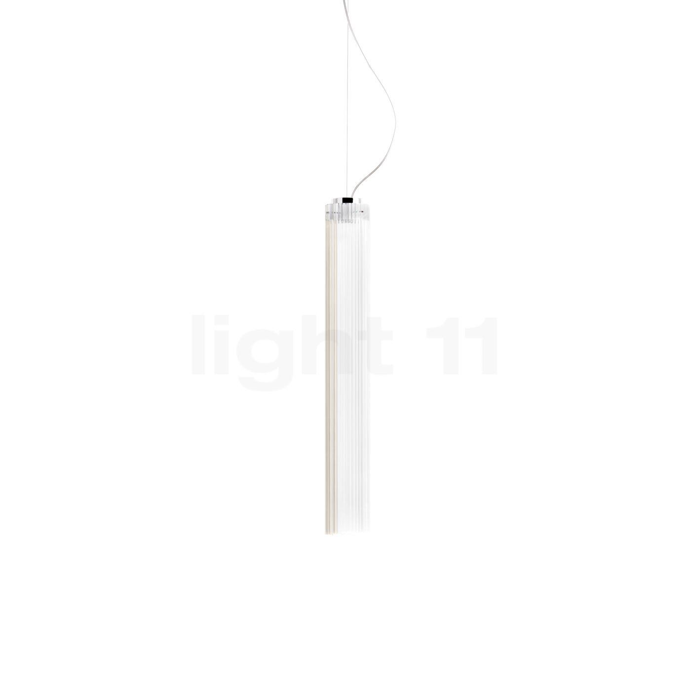 Kartell Rifly Pendelleuchte LED, Kristall, 60 cm 09350B4