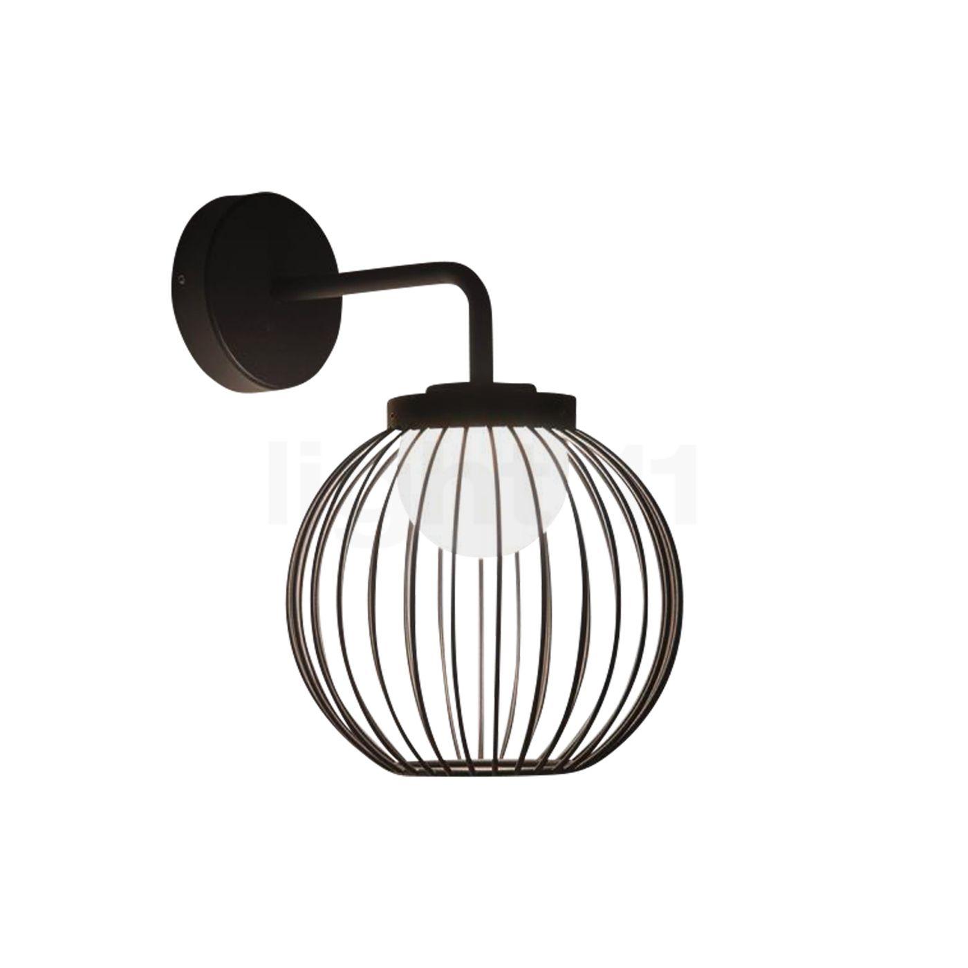 Loum Boho Wandleuchte LED, schwarz 401-90019600
