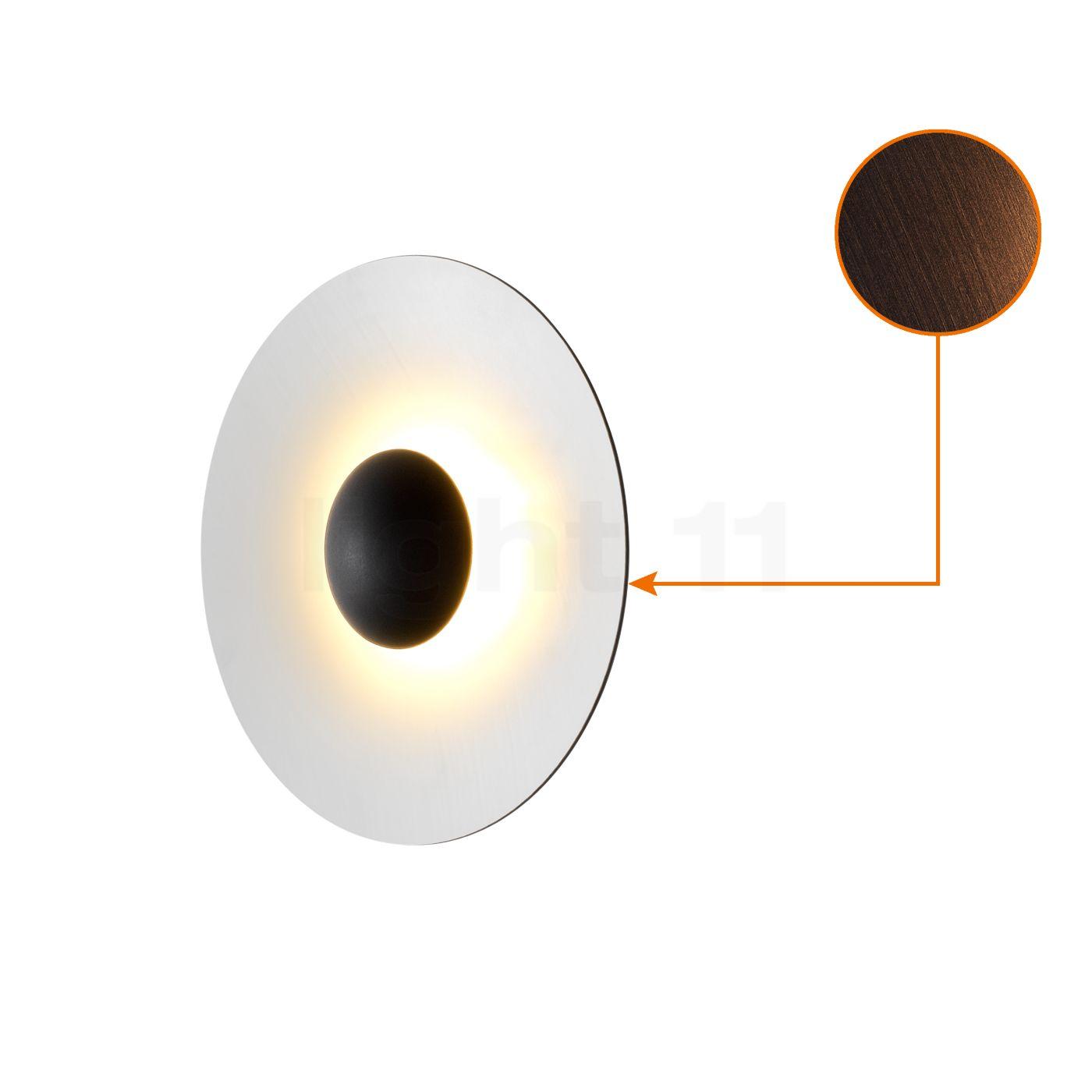 Marset Ginger 32 Wand-/Deckenleuchte LED, Wenge/weiß A662-147