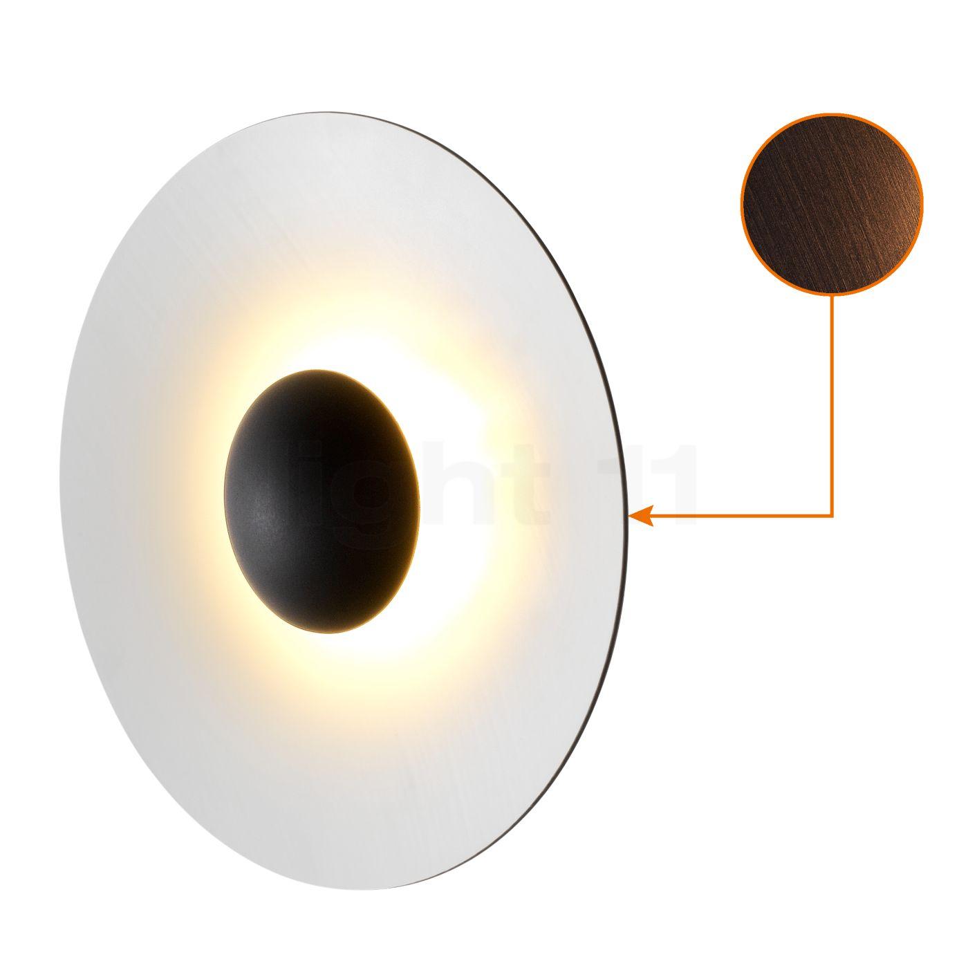 Marset Ginger 60 Wand-/Deckenleuchte LED, Wenge/weiß A662-155
