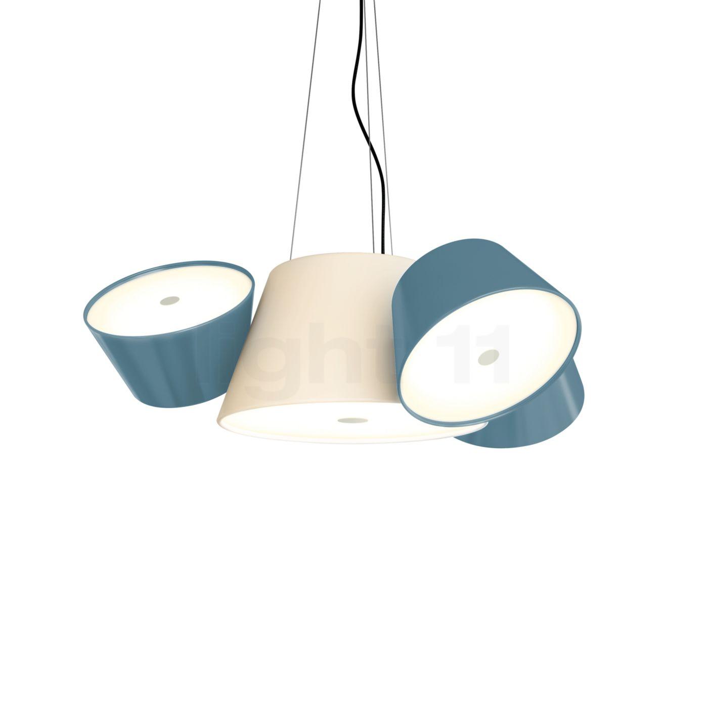 Marset Tam Tam Mini, gebrochenes weiß/blau A633-012 35 + 3xA633-011 48