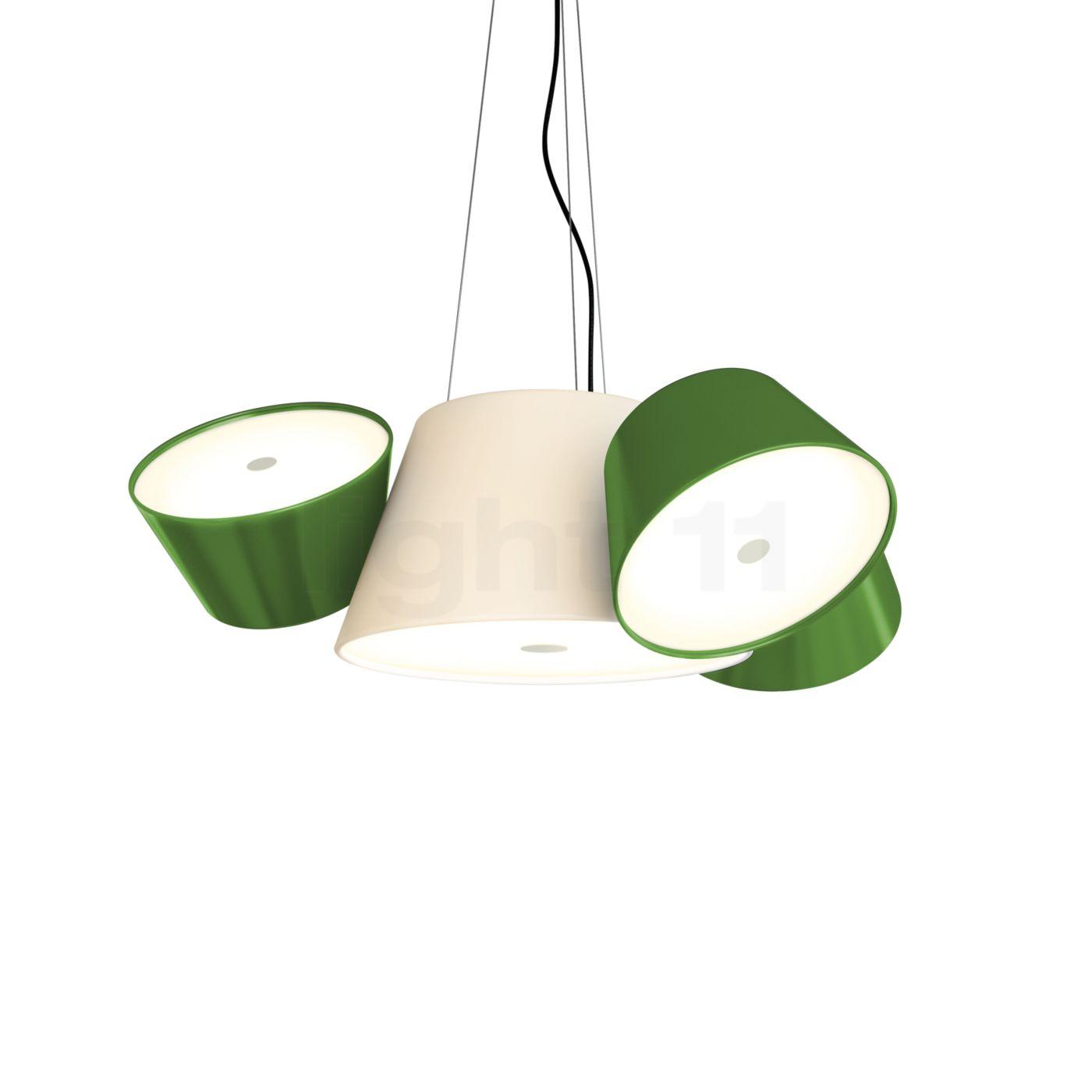 Marset Tam Tam Mini, gebrochenes weiß/grün A633-012 35 + 3xA633-011 45