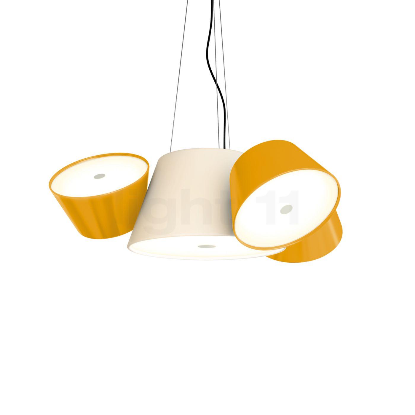 Marset Tam Tam Mini, gebrochenes weiß/orange A633-012 35 + 3xA633-011 46