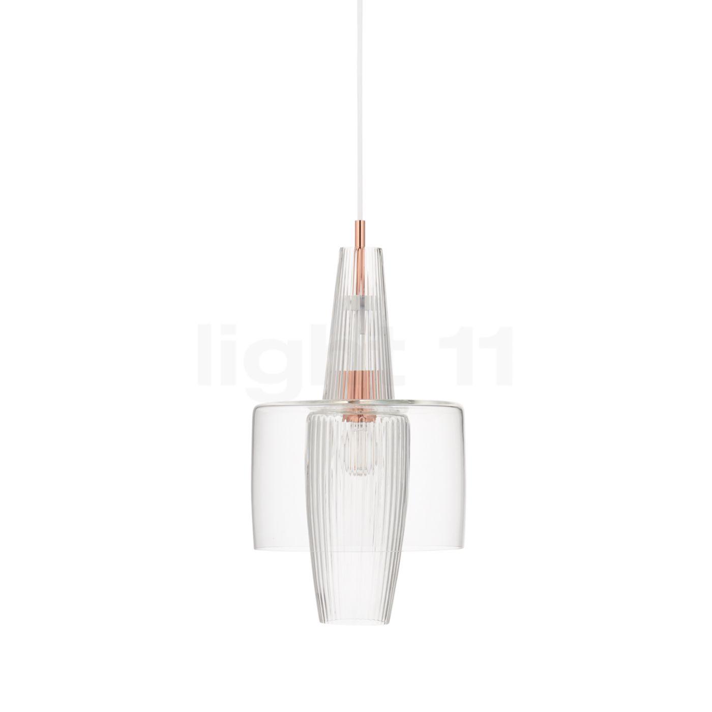 Mawa Gangkofner Venezia Pendelleuchte kristall, transparent, Kabel weiß/Rosé gk-ven-cc-9016-rg2-wt