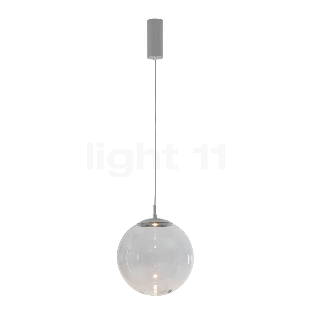 Mawa Glaskugelleuchte LED, Kristallglas/grau metallic ku3-7-3000-gc-DB702