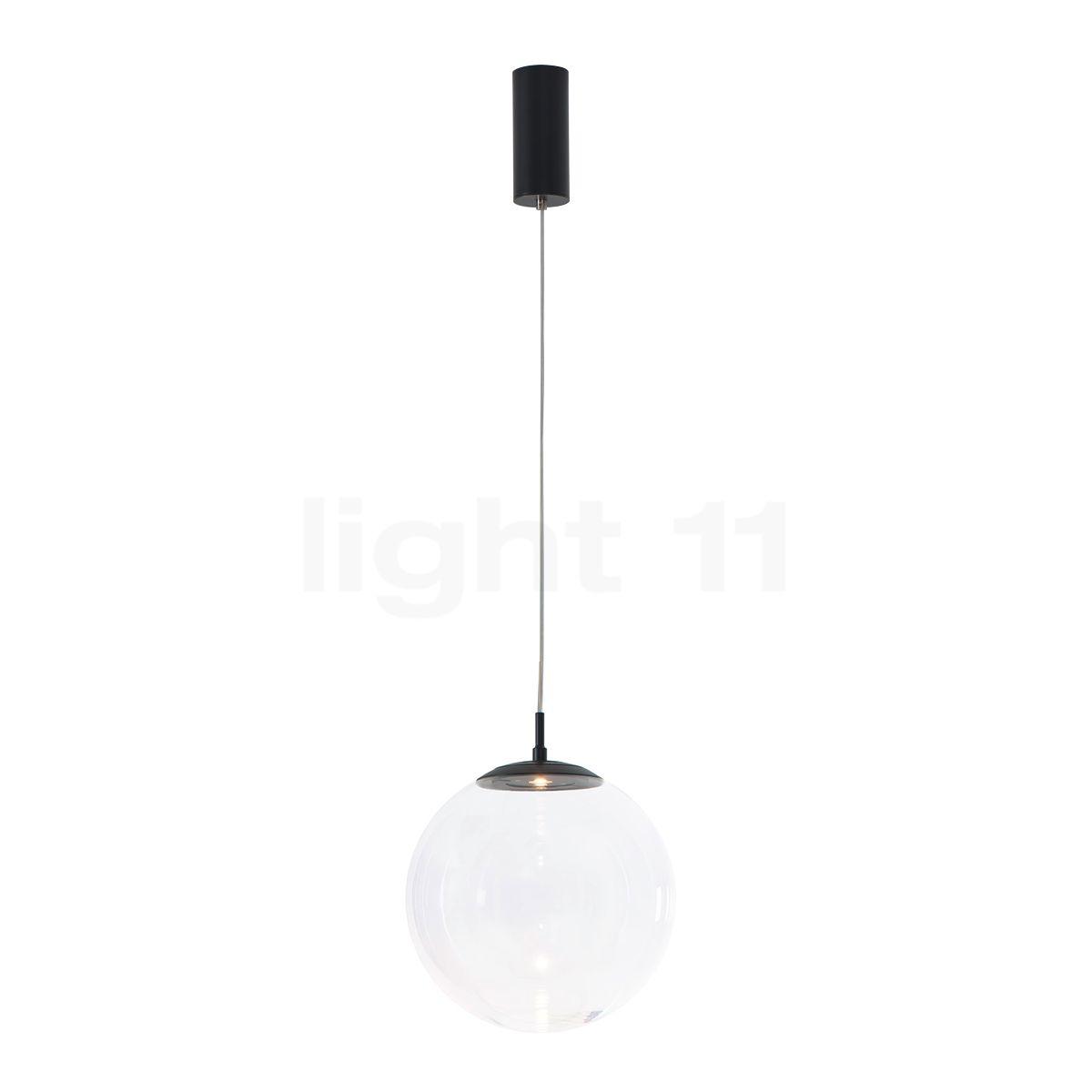 Mawa Glaskugelleuchte LED, Kristallglas/schwarz matt ku3-7-3000-gc-9005