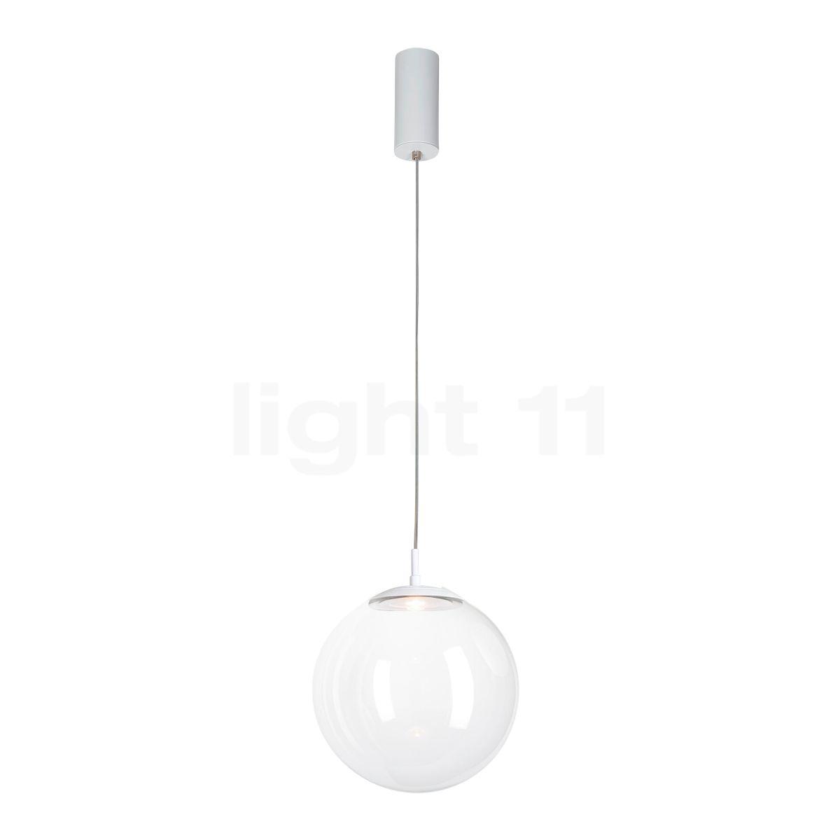 Mawa Glaskugelleuchte LED, Kristallglas/weiß matt ku3-7-3000-gc-9016
