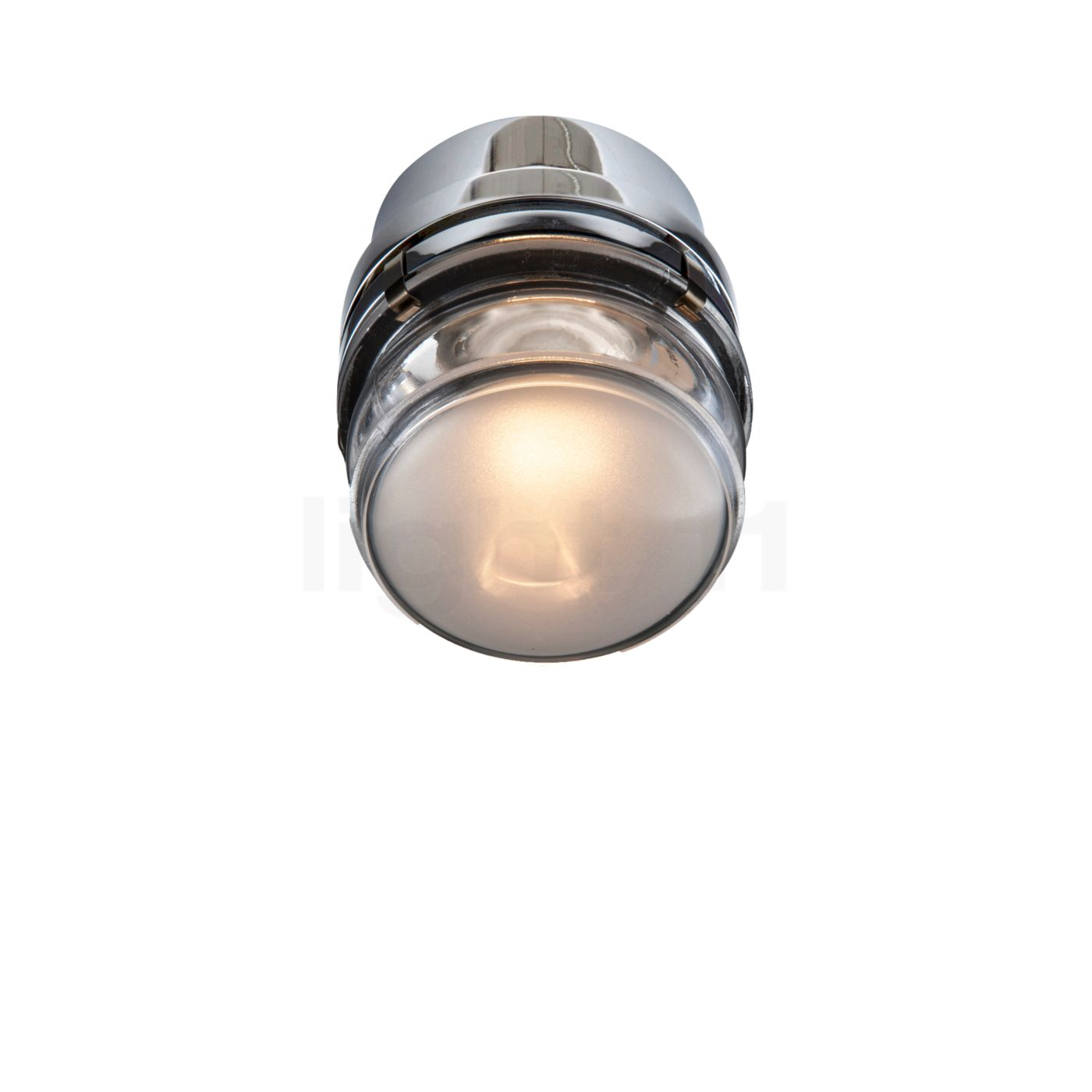 Oluce Fresnel Wandleuchte LED, Chrom L1148/LBT CR
