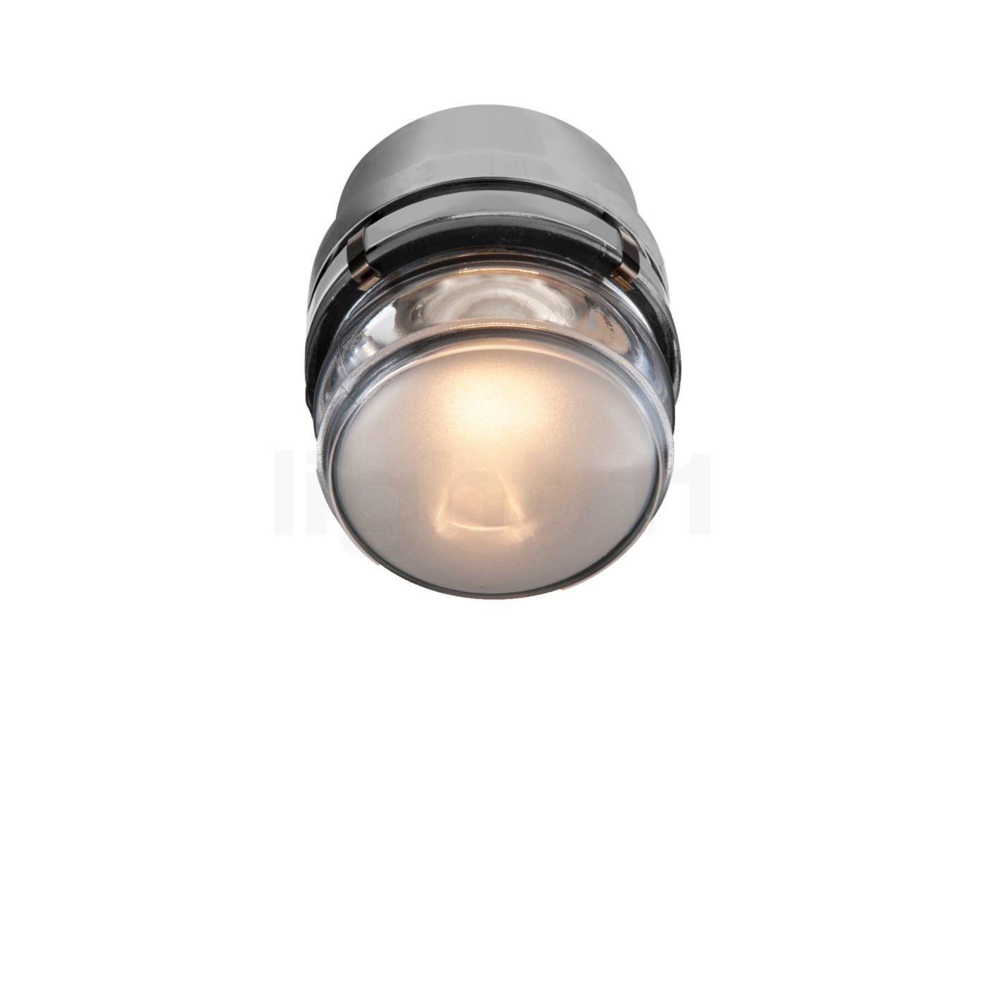 Oluce Fresnel Wandleuchte Outdoor LED, grau L1148/LBT GR