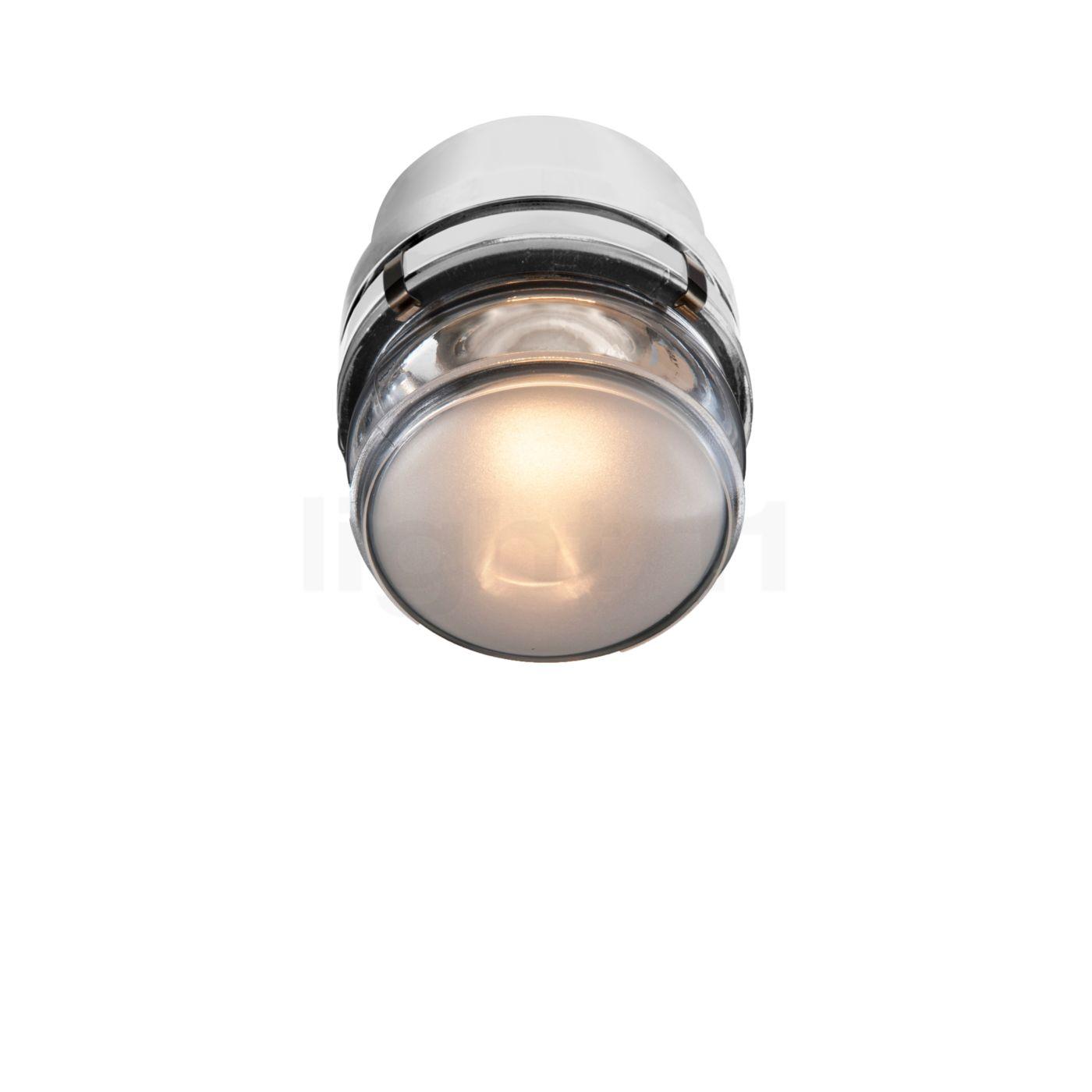 Oluce Fresnel Wandleuchte Outdoor LED, weiß L1148/LBT BI