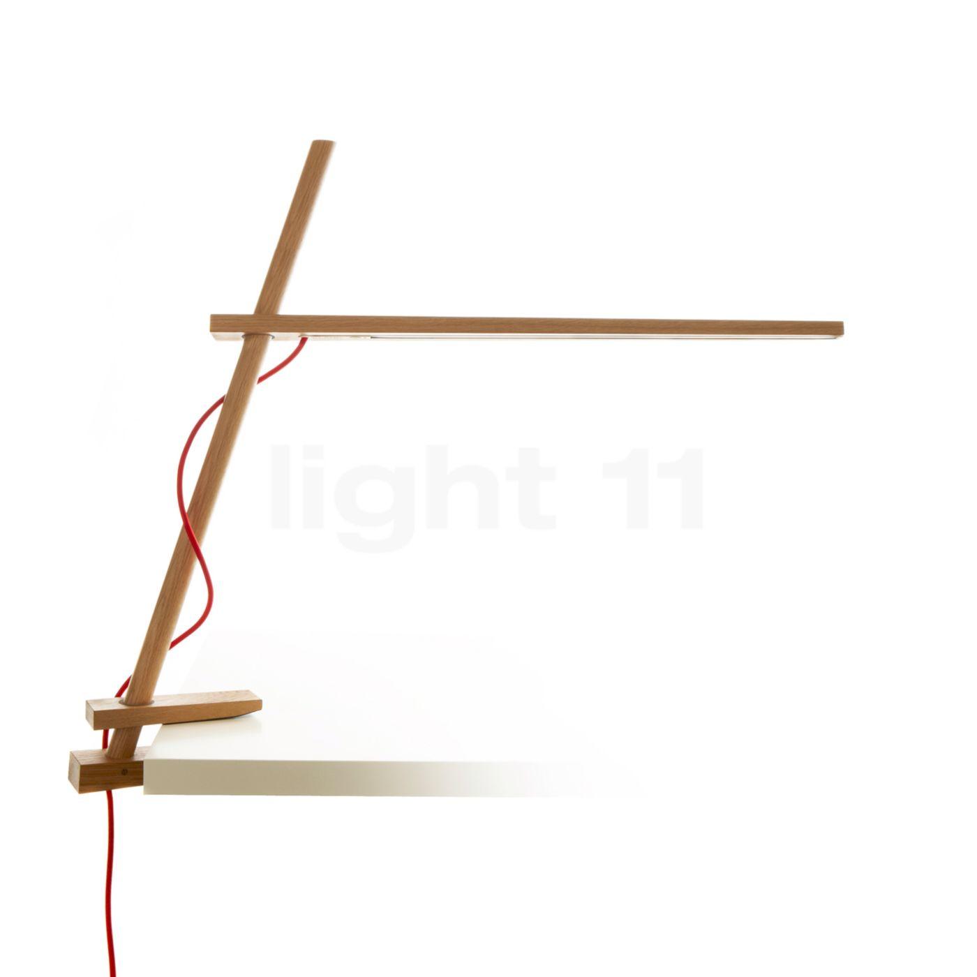 Pablo Designs Clamp Klemmleuchte LED, Eiche CLAM-CLP-OAK-UNV