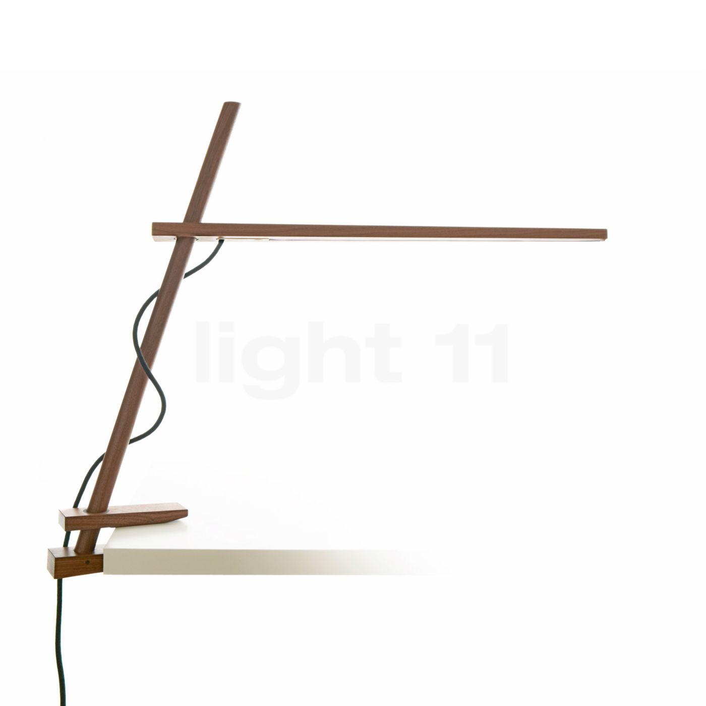 Pablo Designs Clamp Klemmleuchte LED, Walnuss CLAM-CLP-WLN-UNV