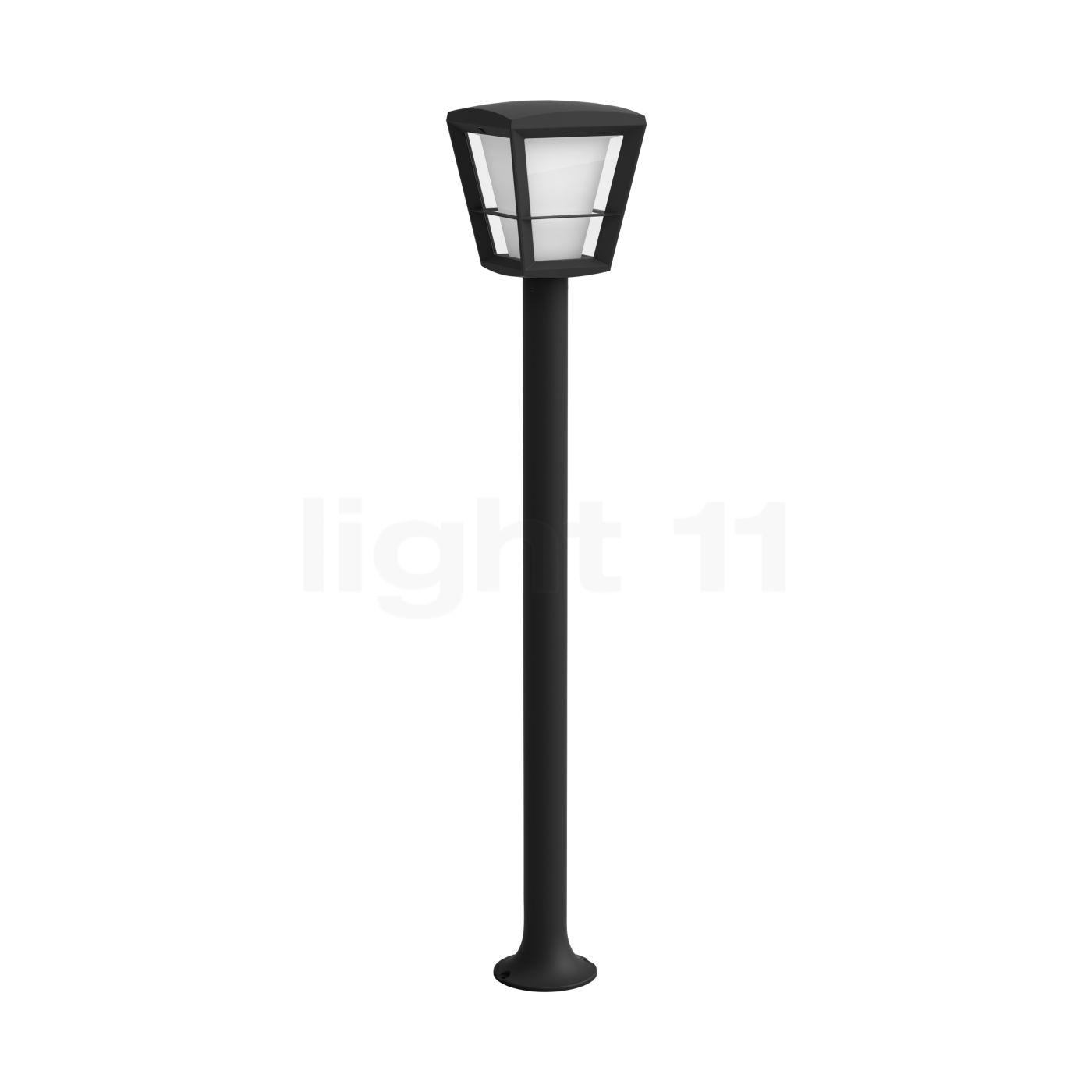 Philips Hue Econic Wegeleuchte LED, schwarz 1744230P7