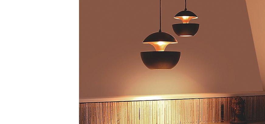lampe mit mehreren schirmen great loong besondere in schwarz with lampe mit mehreren schirmen. Black Bedroom Furniture Sets. Home Design Ideas