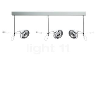 Absolut Lighting Absolut Spotlight 3 fuochi LED cromo opaco