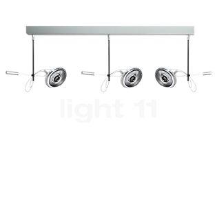 Absolut Lighting Absolut Spotlight con 3 focos LED cromo mate