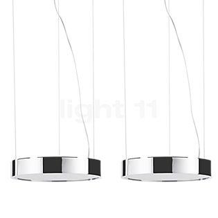 Absolut Lighting Aluring Pendel 2-flamme LED krom skinnende