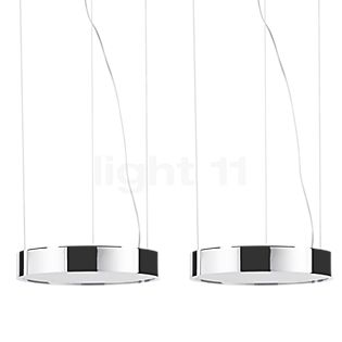 Absolut Lighting Aluring Pendelleuchte 2-flammig LED Chrom glänzend