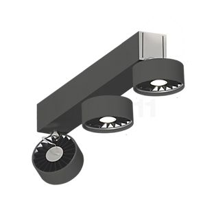 Absolut Lighting Basica Applique/Plafonnier 3 foyers LED noir